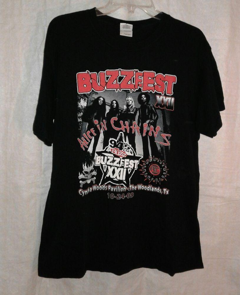 Alice In Chains 94 5fm The Buzz Buzzfest Xxii 2009 Texas Sz L Clothing Shoes Shirts