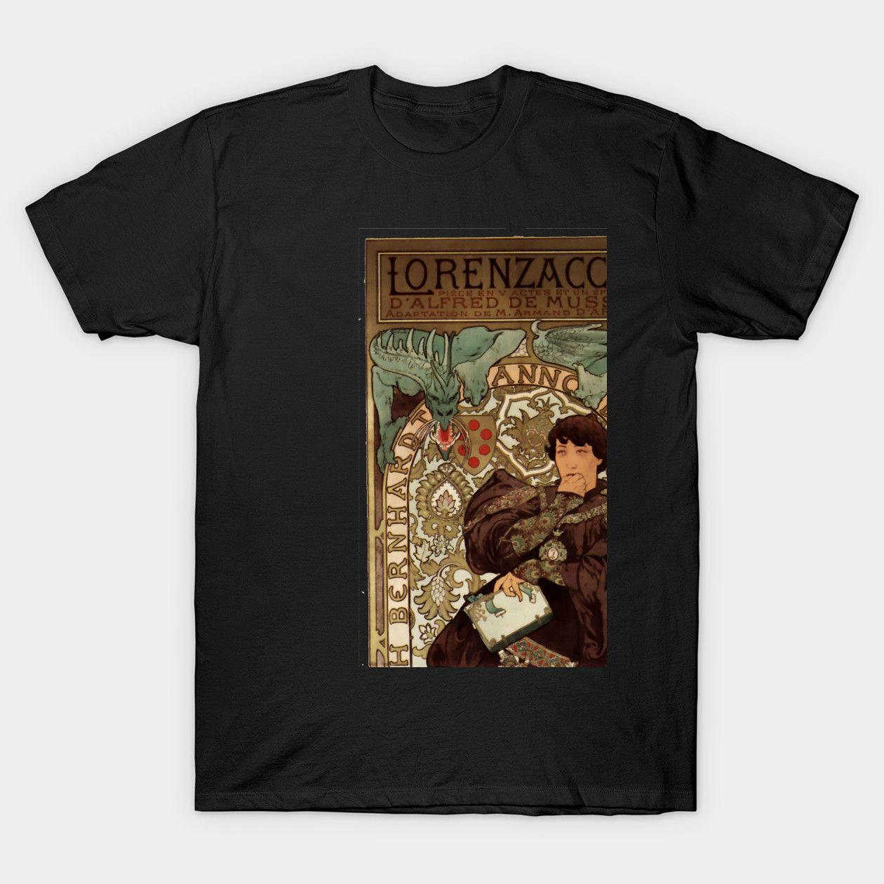 Alphonse Mucha Vintage Poster Art Design Alphonse Mucha Classic Shirts