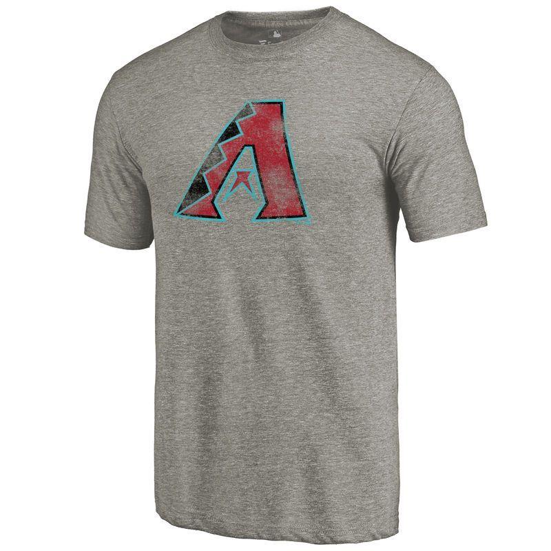 Arizona Diamondbacks Distressed Team Tri Blend Ash Shirts