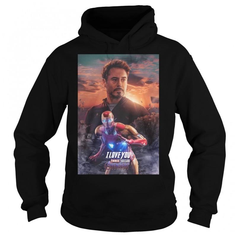 Avengers Endgame Iron Man I Love You Three Thousand Shirts