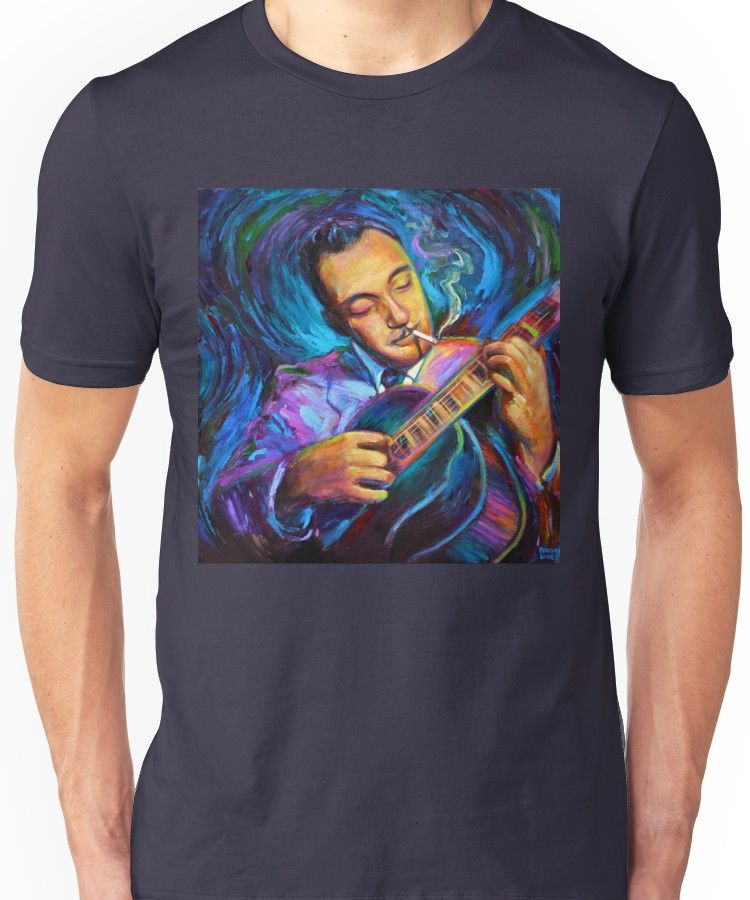 Django Reinhardt Gypsy Jazz Guitarist By Robert Phelps Unisex Shirts