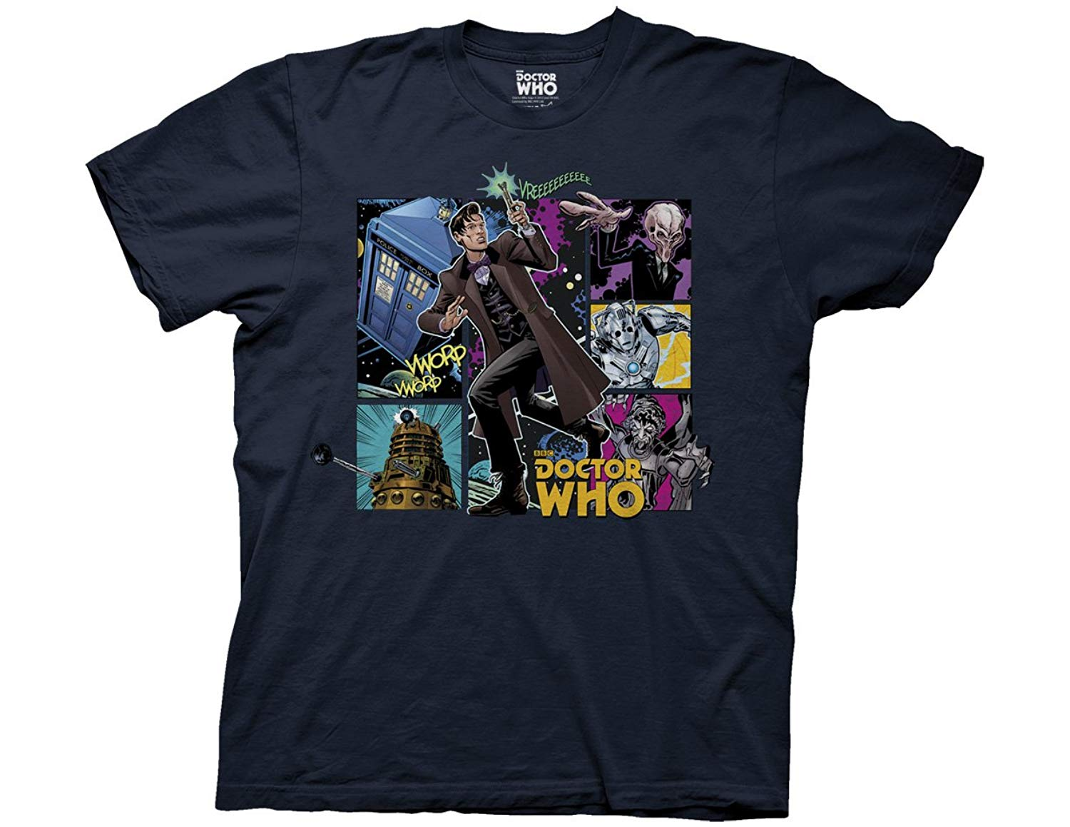 Doctor Who Comic Doctor Composition Adult Shirts
