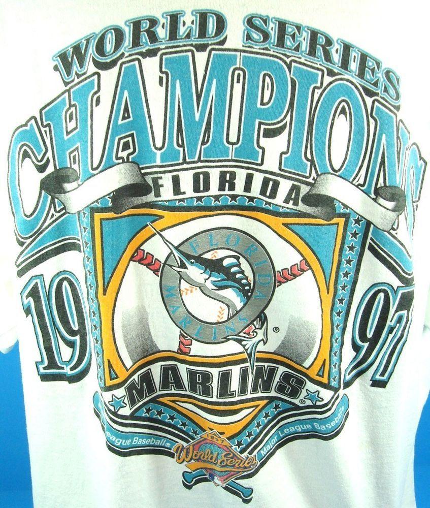 1997 World Series Champions M L Logo 7 Shirts