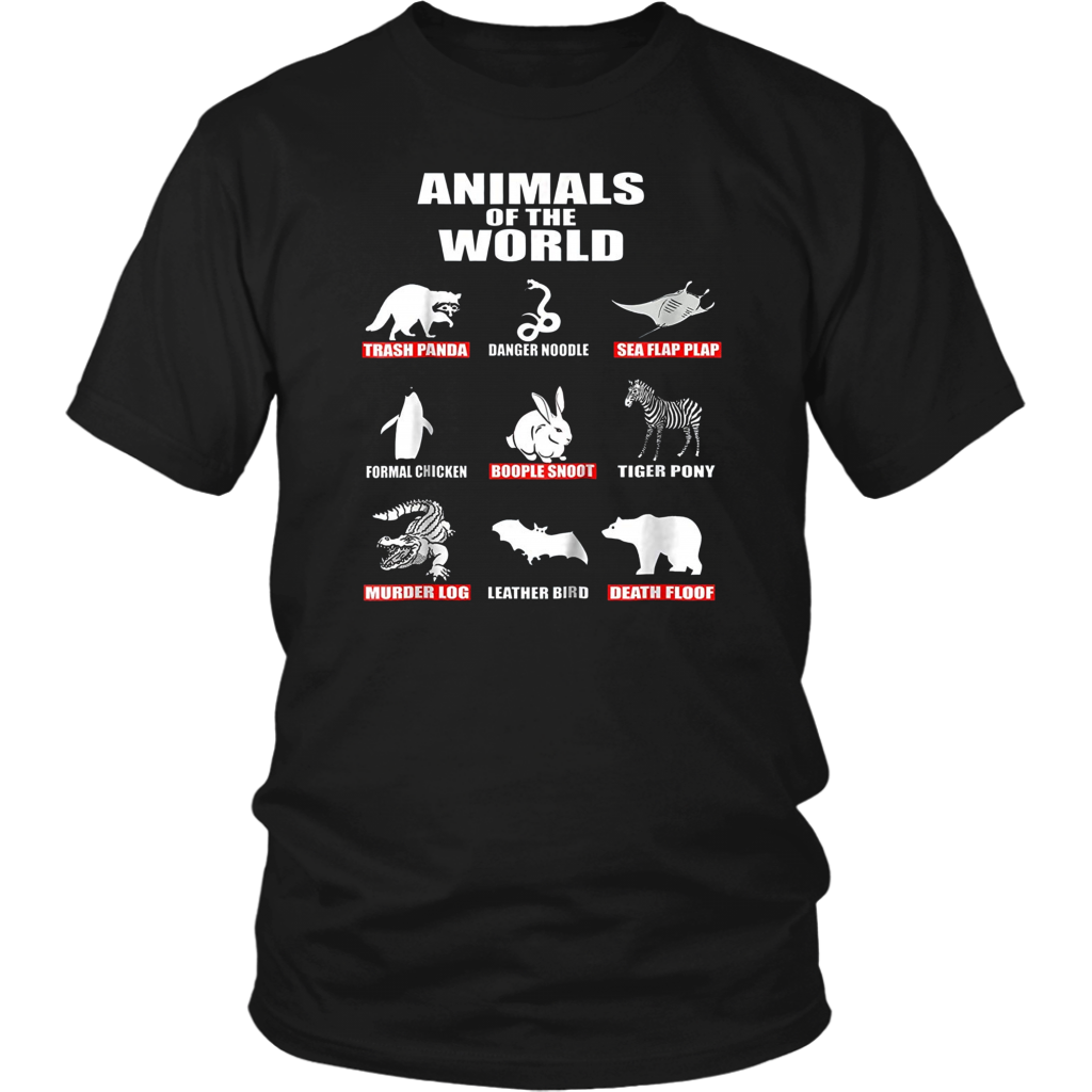 Get Now Animals Of The World Shirts