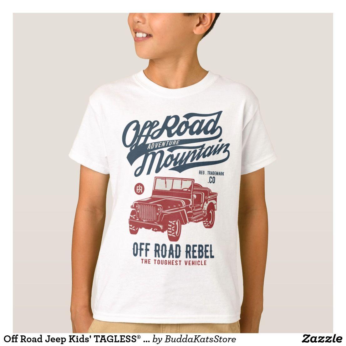 Off Road Jeep Tagless Shirts