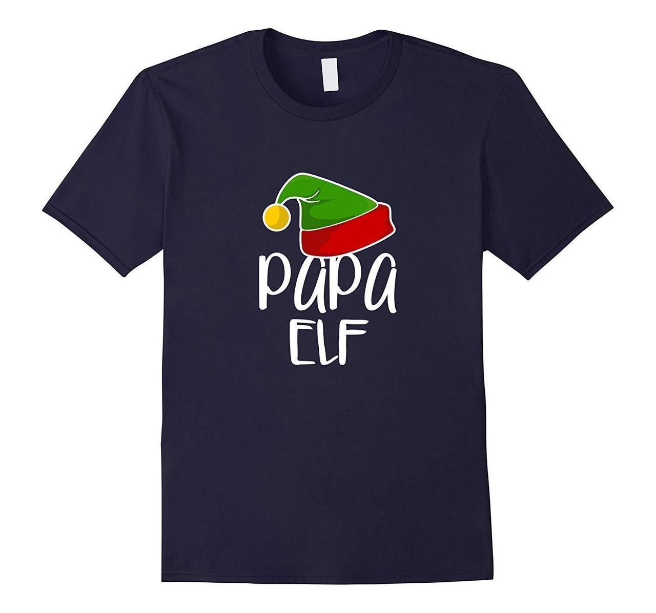 Papa Elf Shirt Funny Christmas Gift Tee