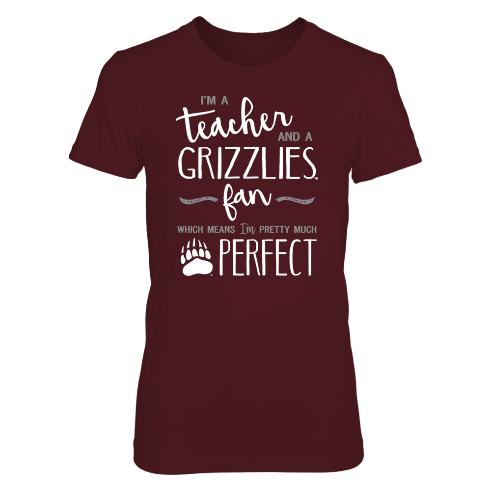 Perfect Teacher Montana Grizzlies Fan Tank Front Picture Shirts