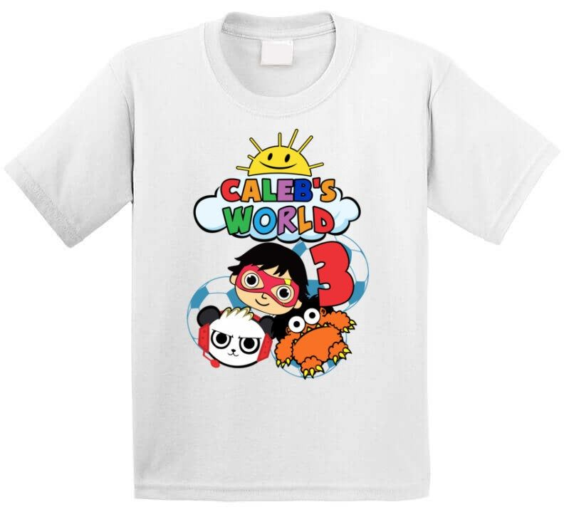 Personalized Name And Age Ryan S World Toy Review Kid Custom Your Name And Age Ki Shirts