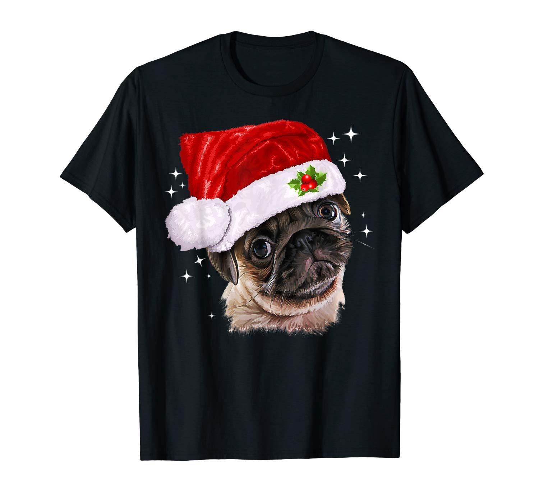 Pug Christmas Dog Lover Funny Xmas Gift Shirts