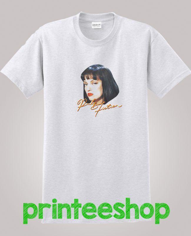 Pulp Fiction Mia Wallace Face Shirts