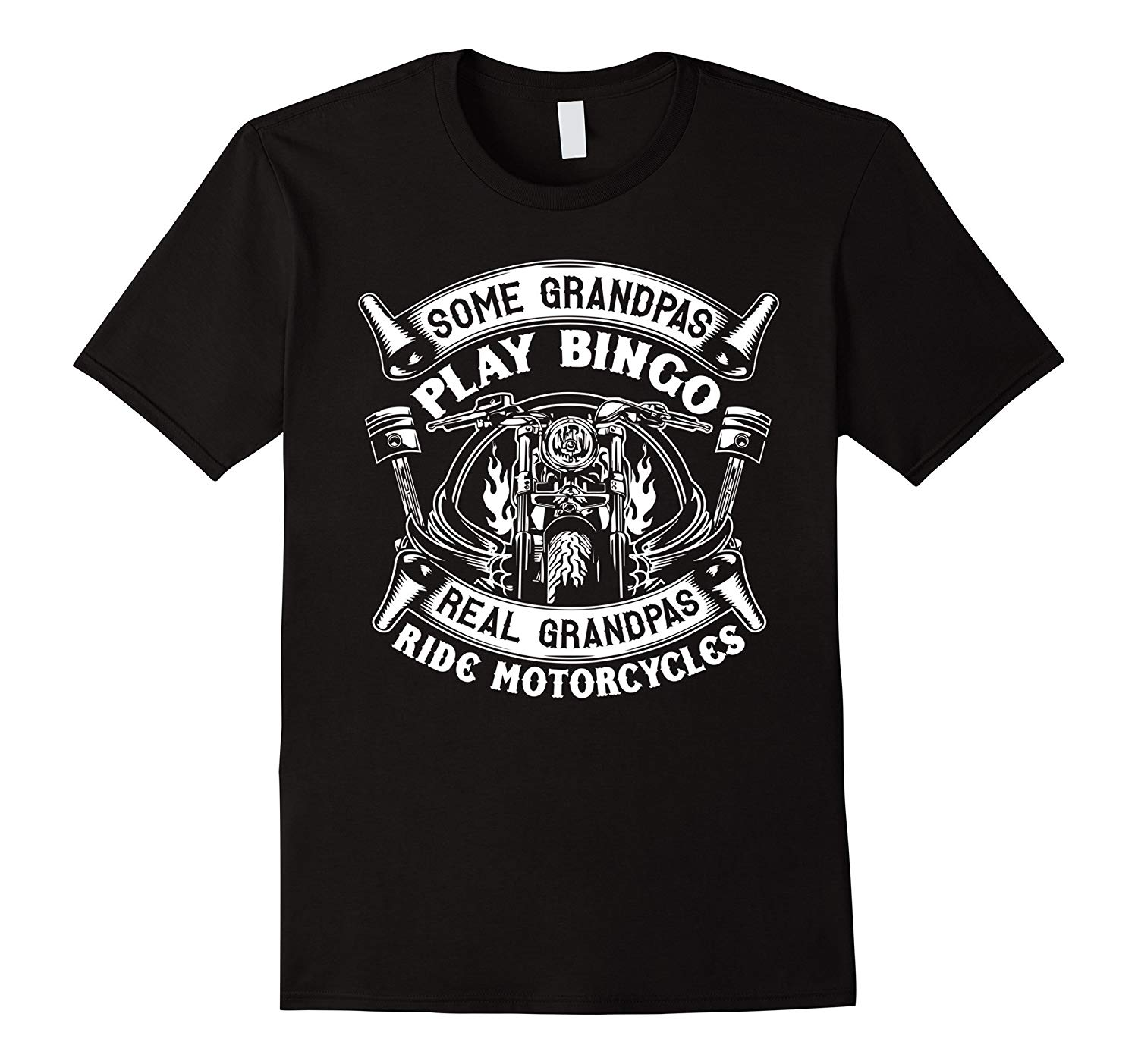 Real Grandpas Ride Motorcycle T Shirt Biker Grandpa Shirt