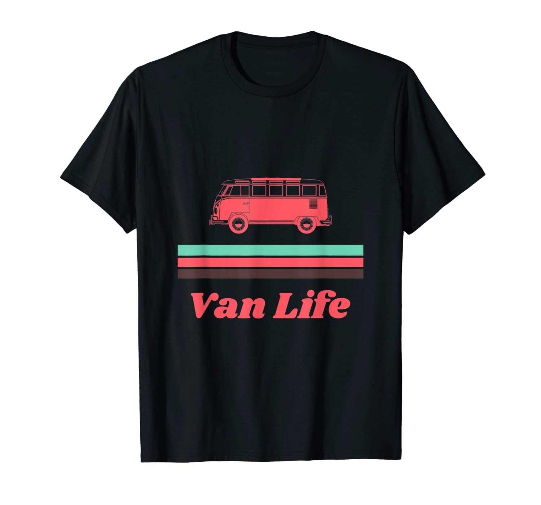 Vintage Mint Coral Van Life Shirts