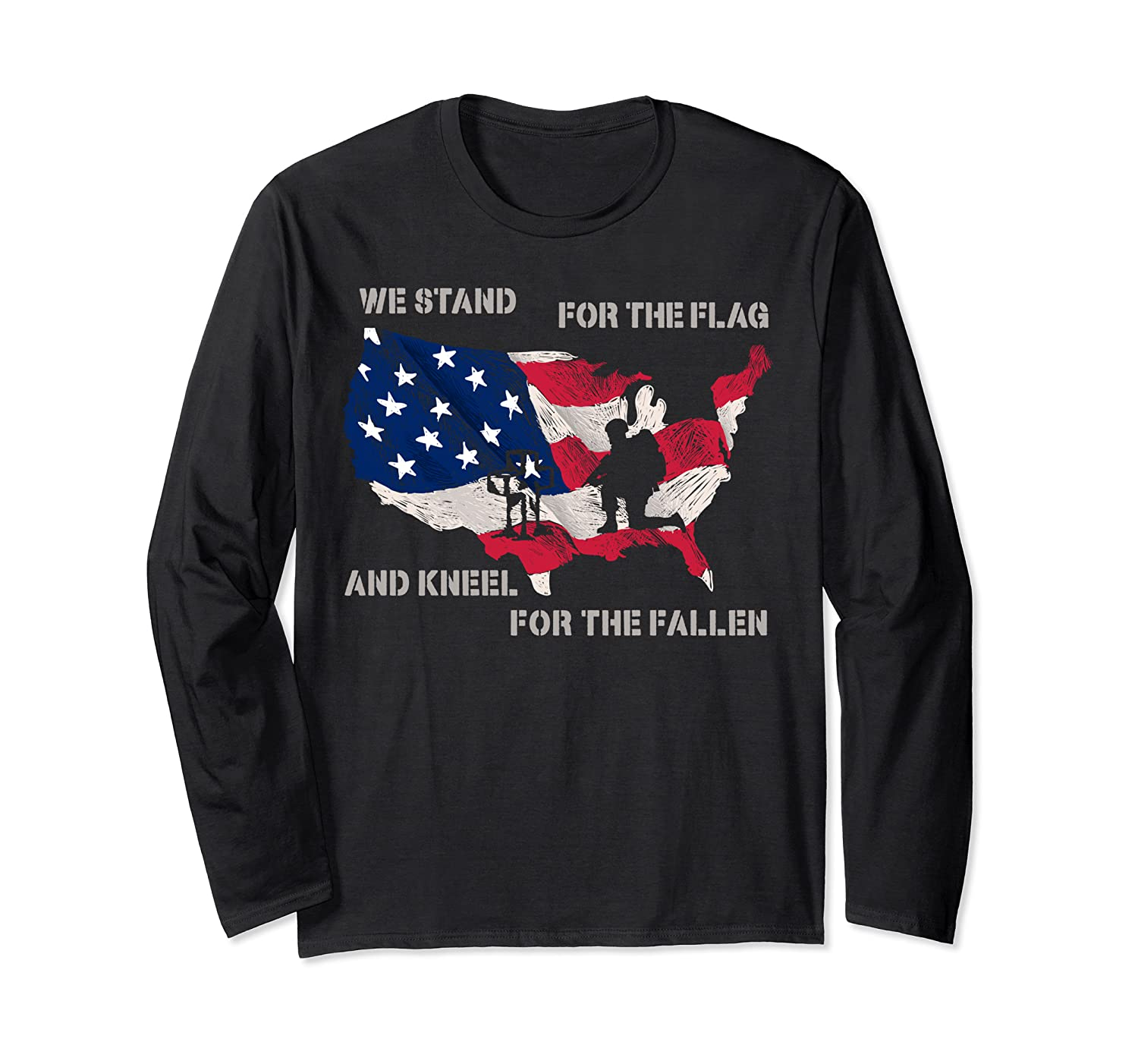 We Stand For The Flag And Kneel For The Fallen Veteran S Day Shirts