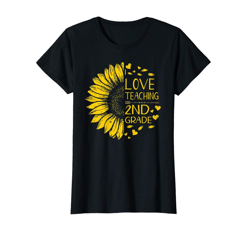 I Love Teaching 2nd Grade Sunflower Lover Tea Gift Shirts