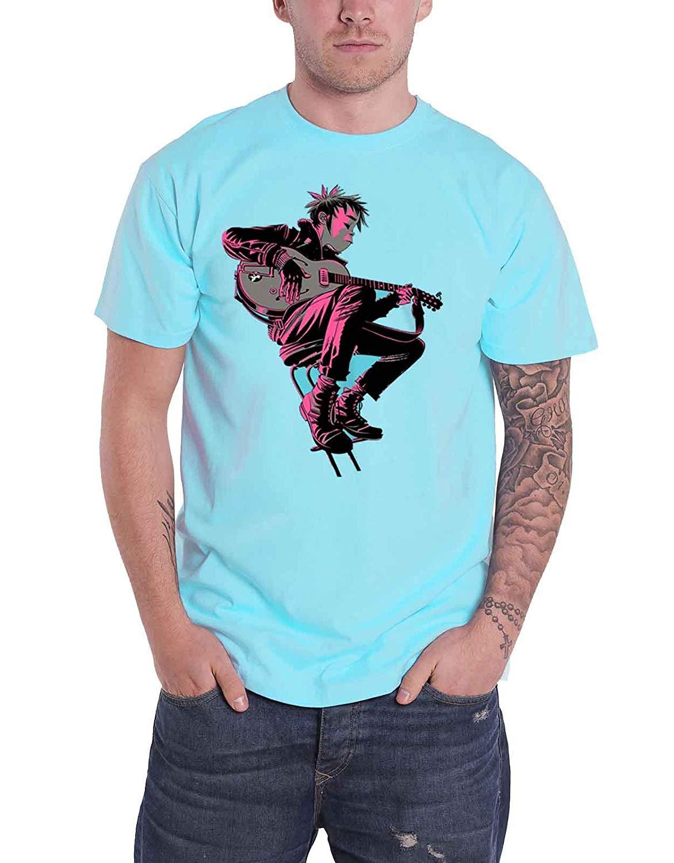 Gorillaz The Now Now Album Blue Tshirt Extra