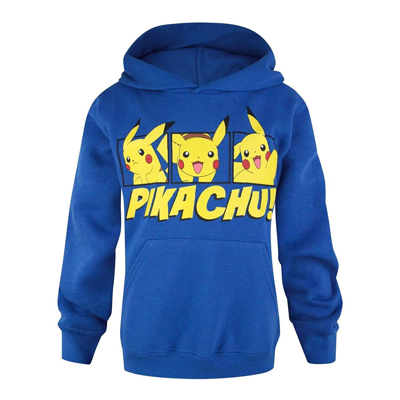 Pokemon Childrens Pikachu Pullover Shirts