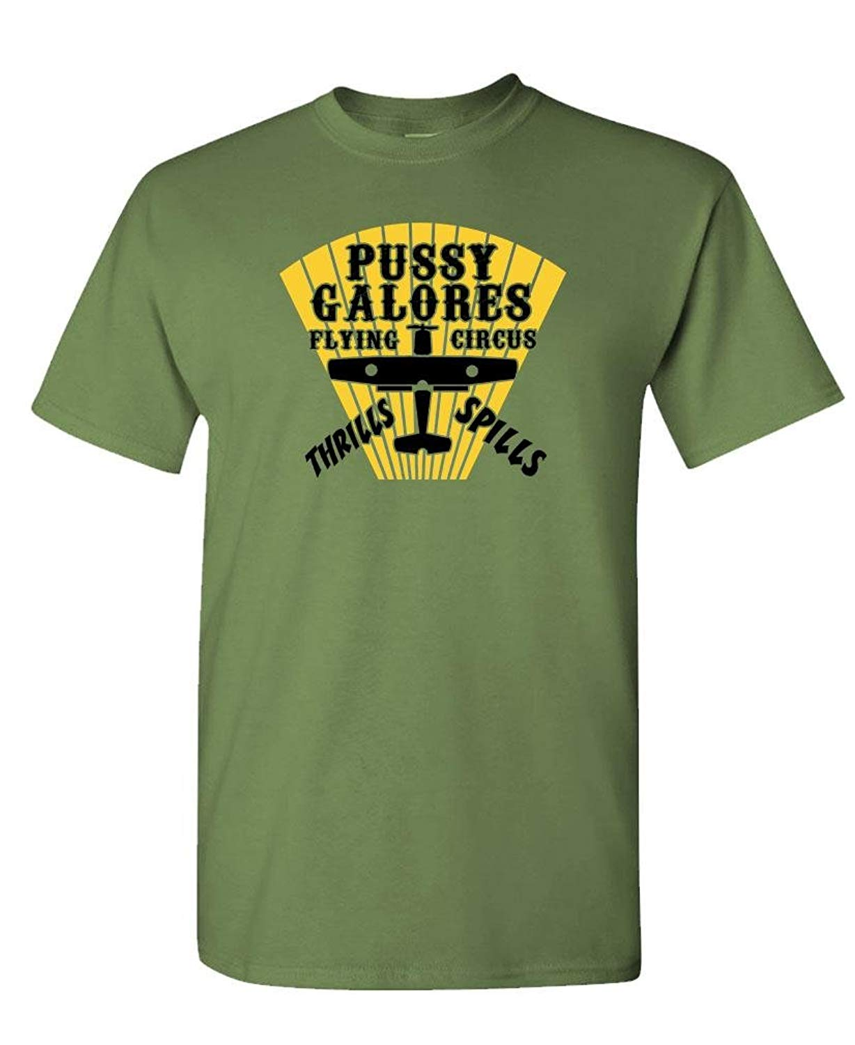 Pussy Galores Flying Circus Spy Movie S T Shirt