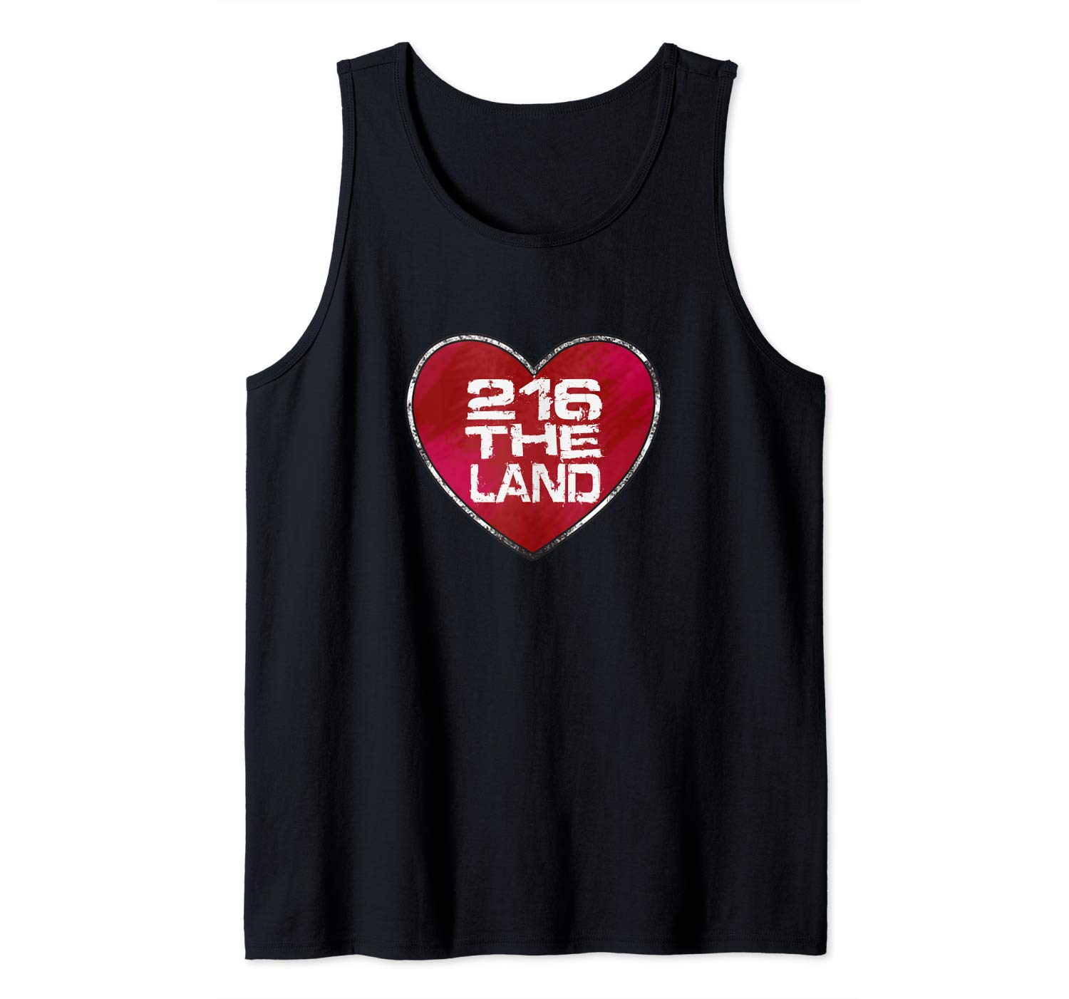 216 Cle Cleveland The Land Love Hometown Distressed T Shirt Tank Top