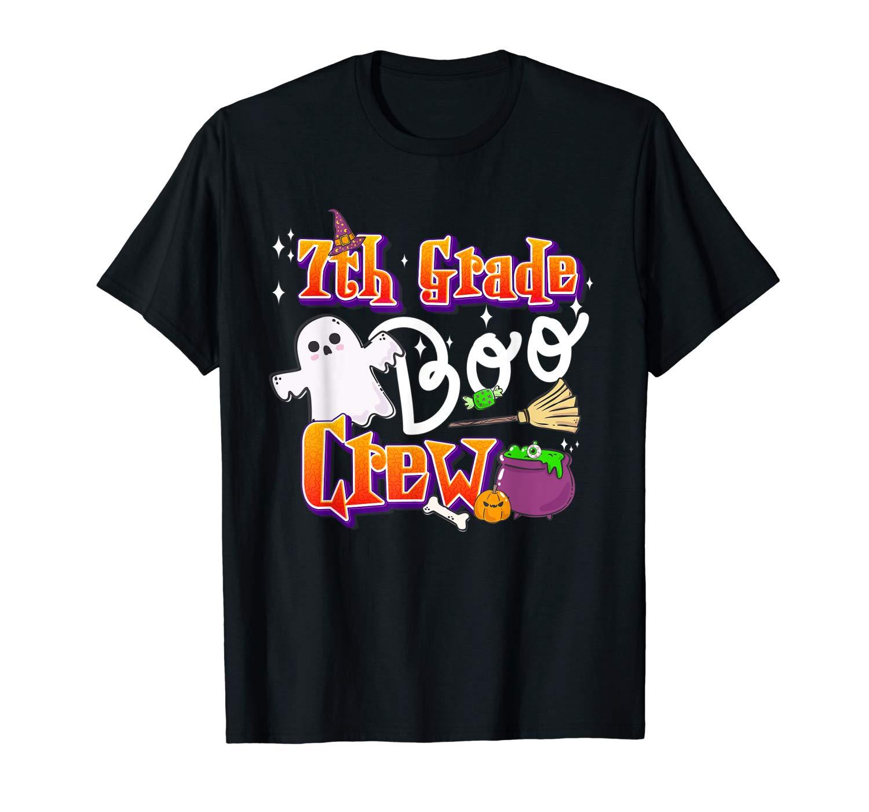 7th Grade Boo Crew Back To School Shirt Halloween Gift