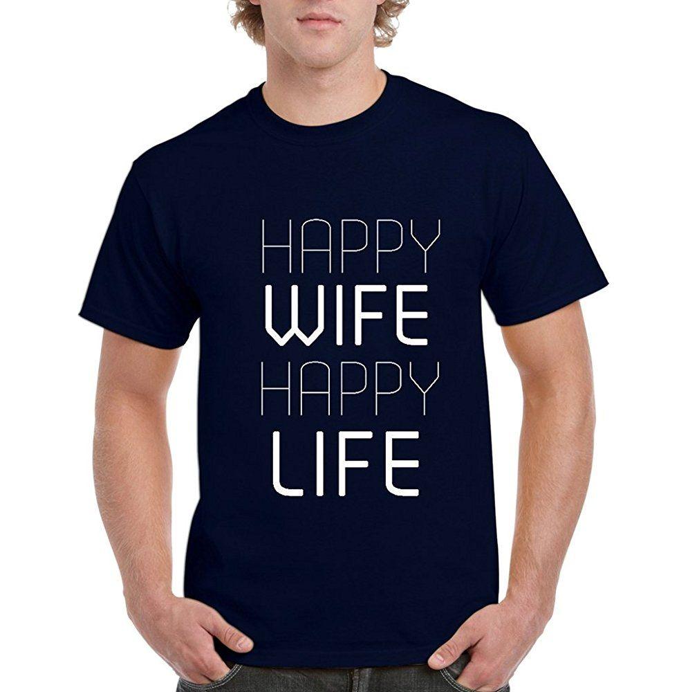 Acacia Happy Wife Happy Life Mens Xx Large Navy Blue Tmen 08062 17 90 D Shirts