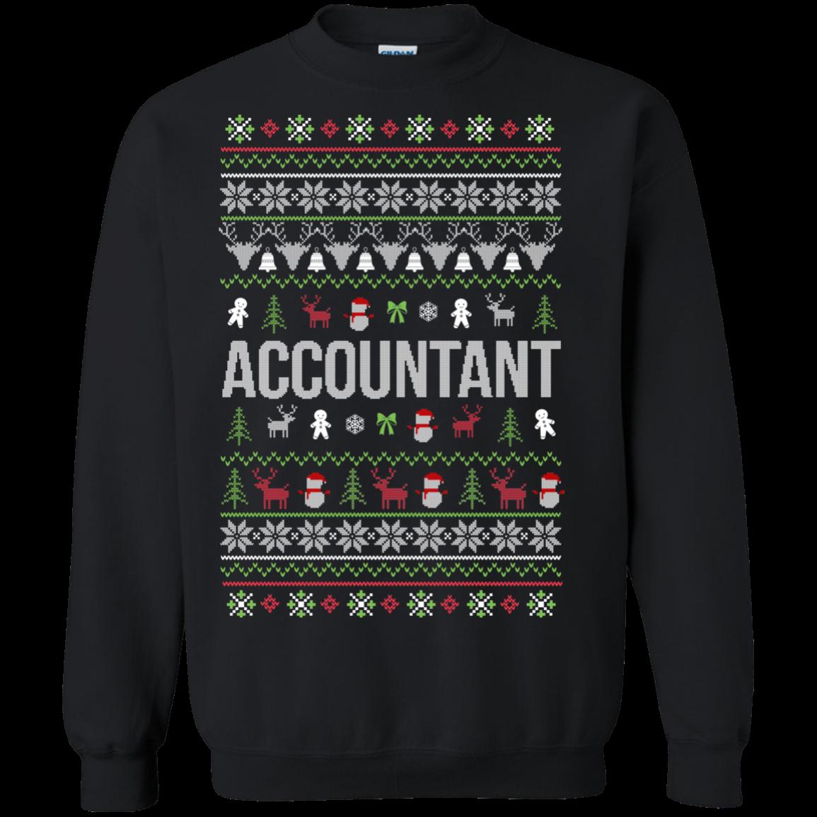 Accountant Ugly Christmas Sweaters Merry Christmas S S Shirts