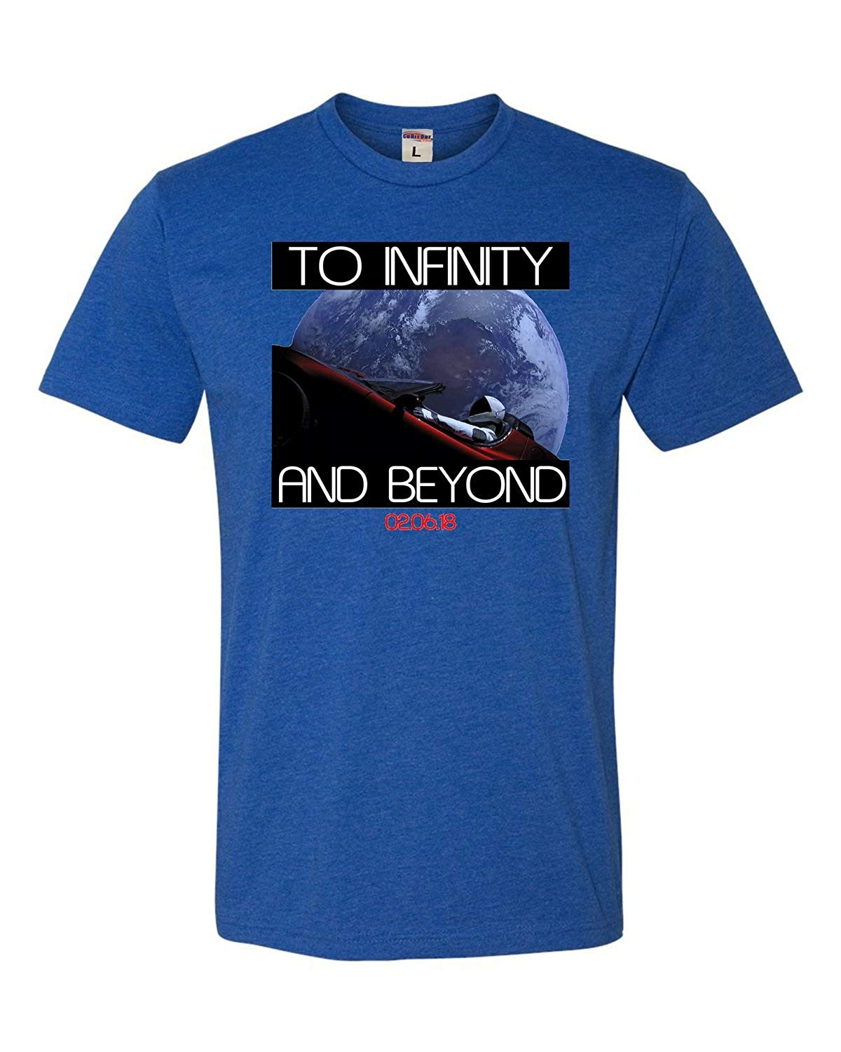 Adult Starman To Infinity And Beyond Deluxe T Shirt