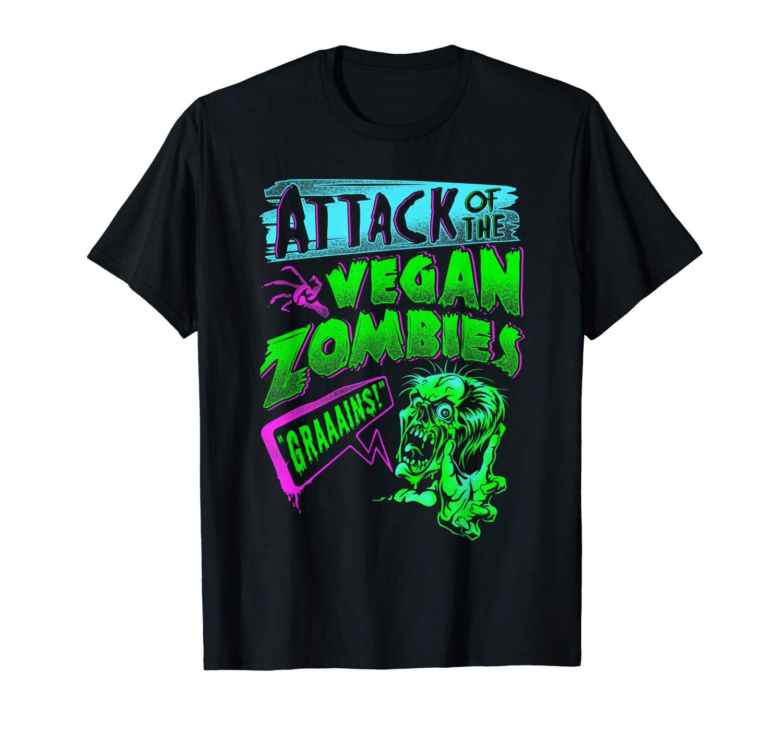 Attack Of The Vegan Zombies Vegetarian Halloween T Shirt