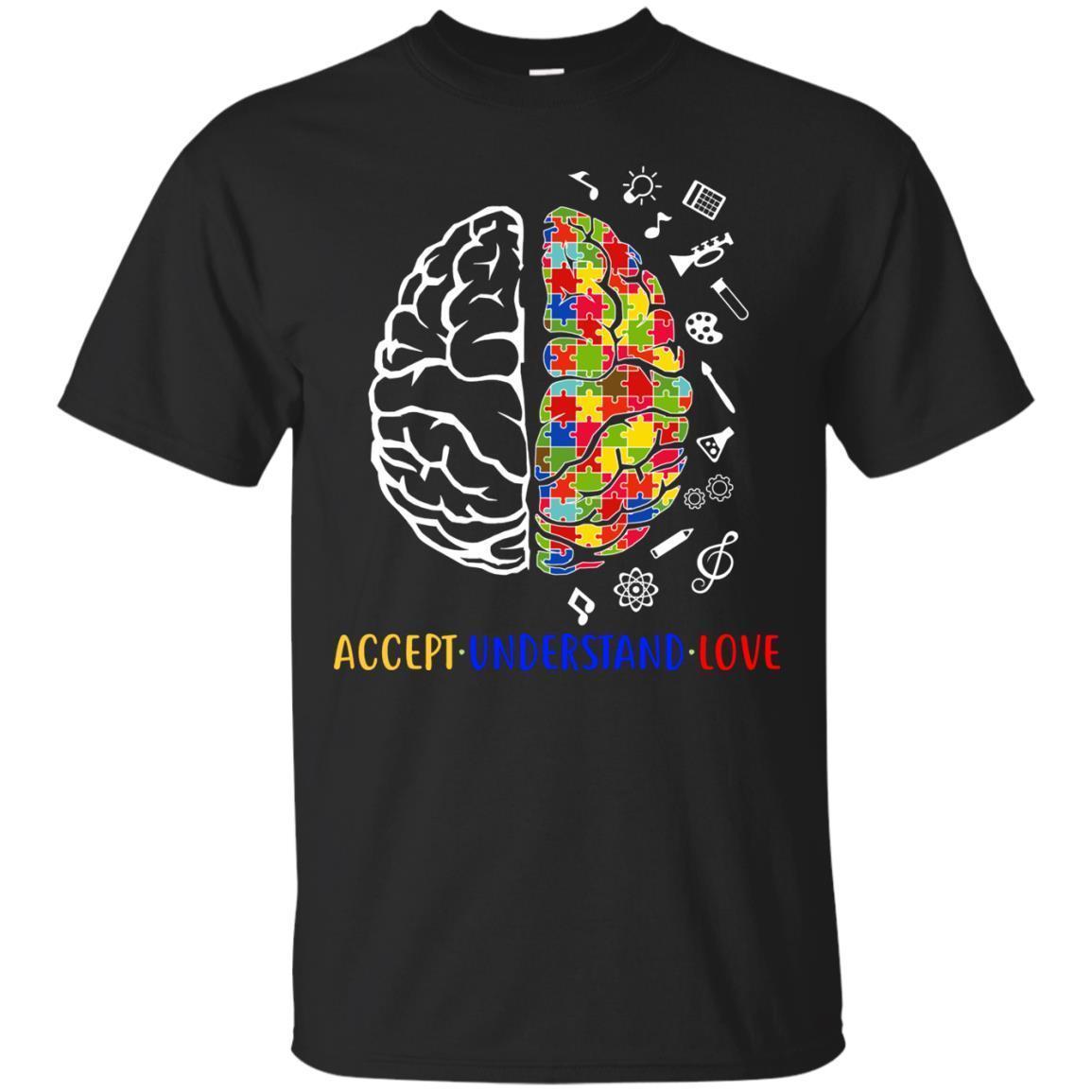 Autism Awareness Brain Accept Understand Love T Shirt