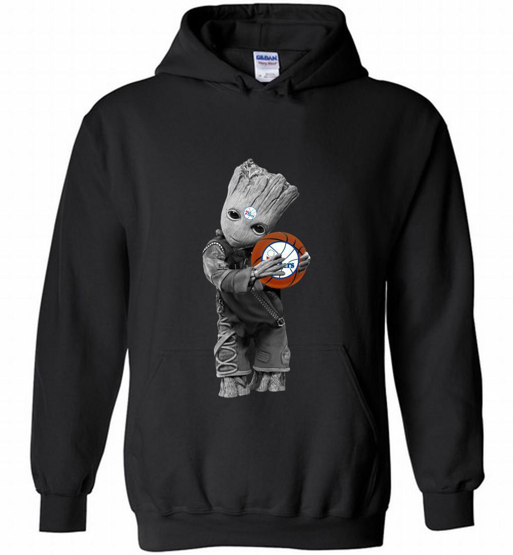 Baby Groot Hug 76ers Shirts
