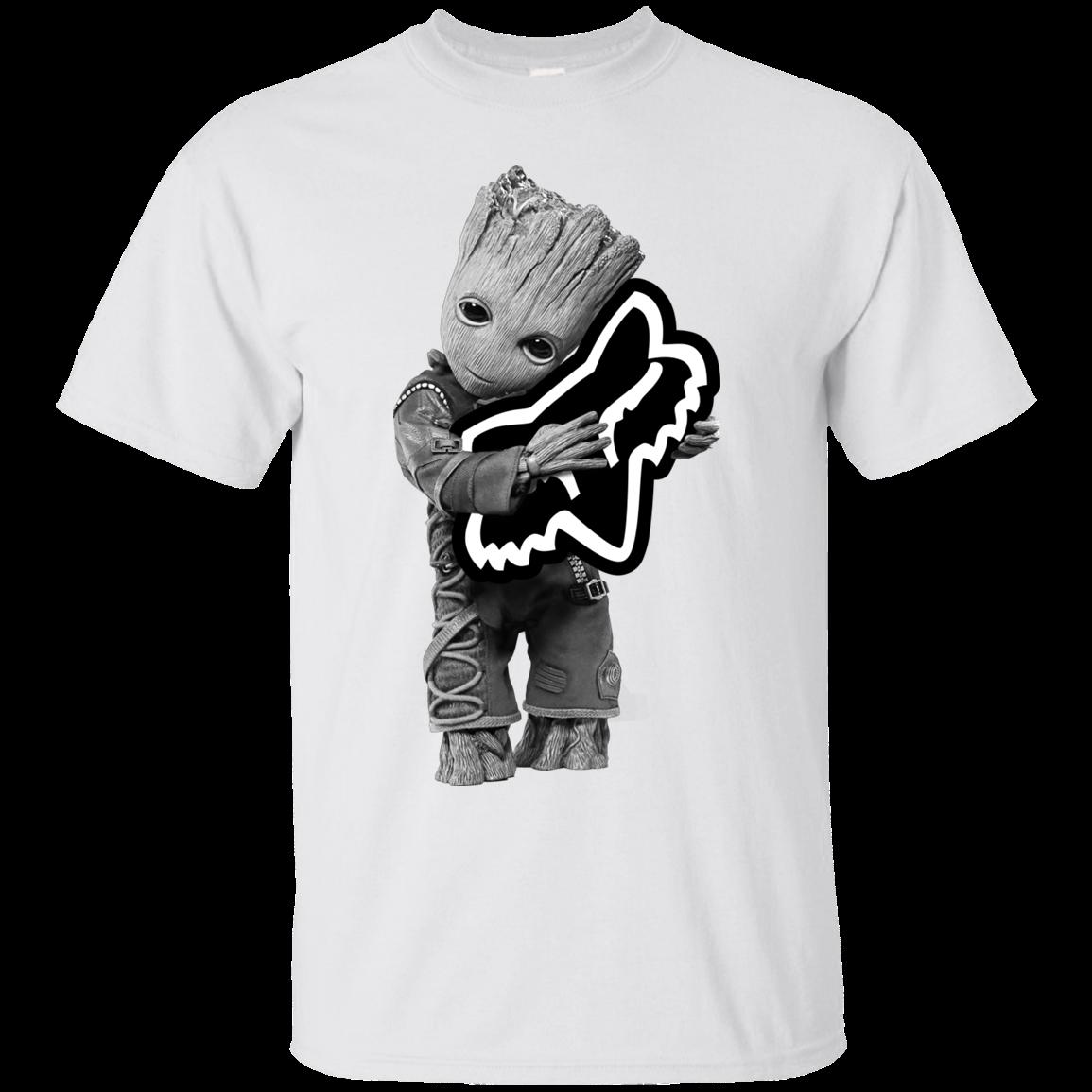 Baby Groot Hug Fox Racing Shirt