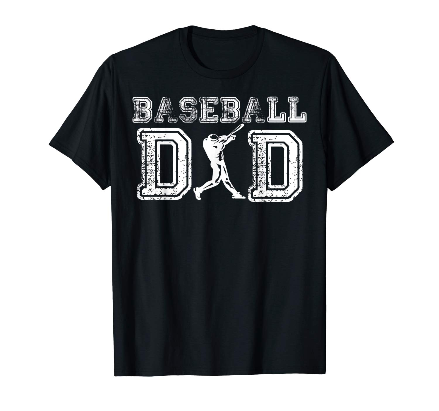 Baseball Dad T Shirt Fathers Day Gift For Daddy Papa Father