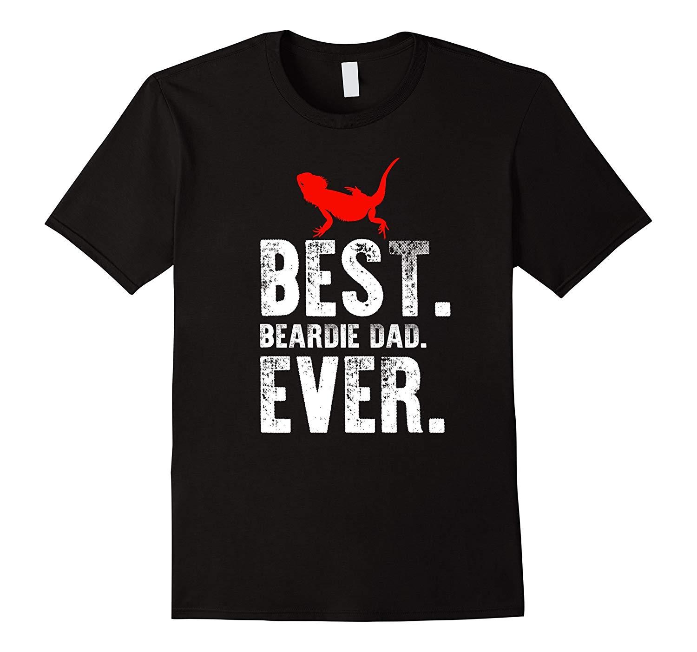 Best Beardie Dad Ever T Shirt Bearded Dragon Reptile Tees