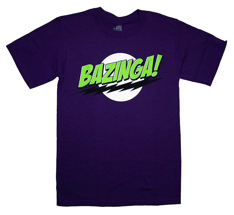 Big Bang Theory Bazinga Purple S Tee L Shirts