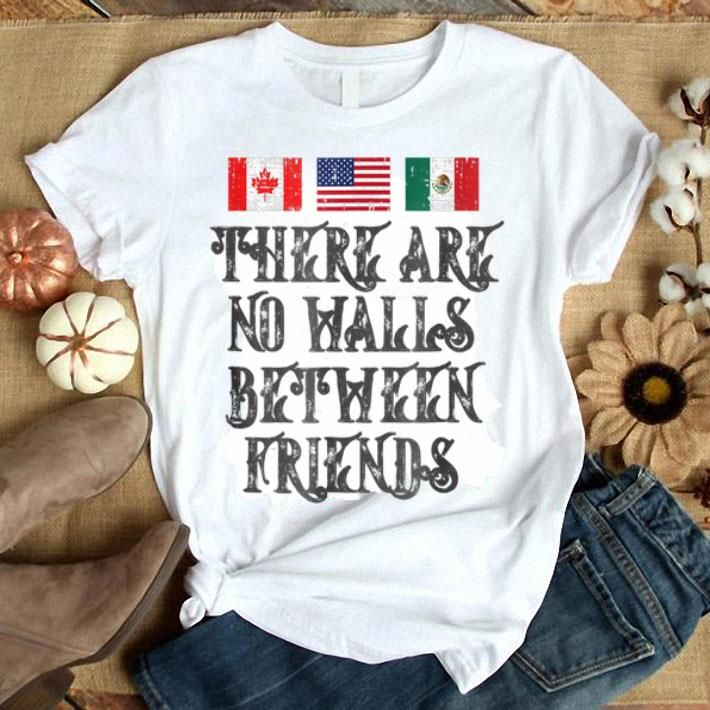 Border Wall Protest Mexican American Canadian Flag Shirts
