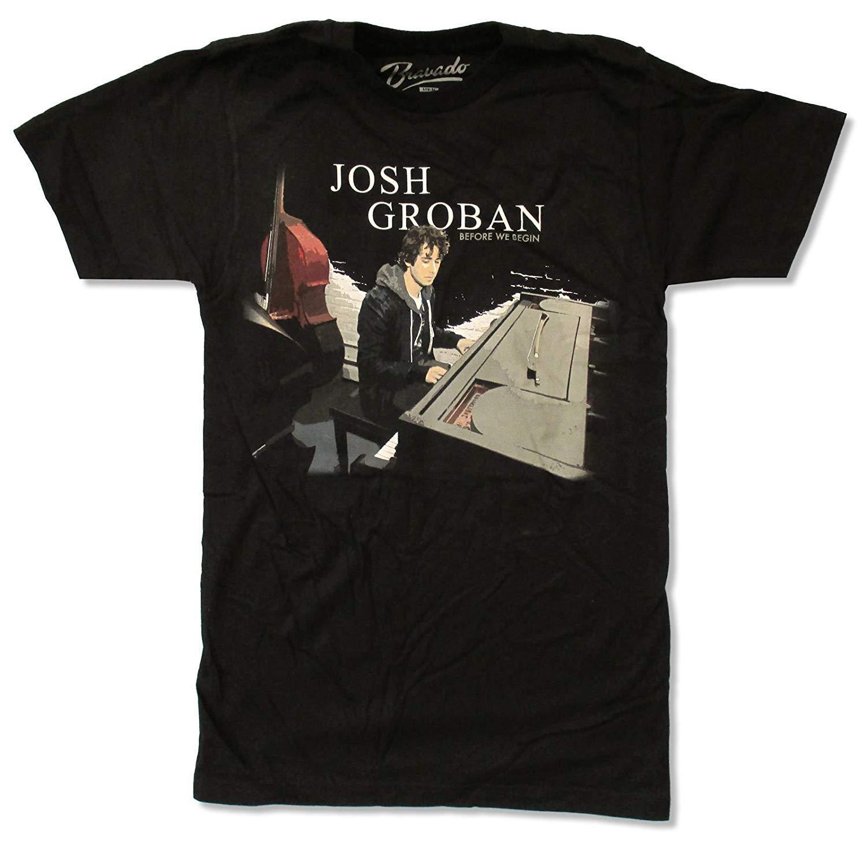Adult Josh Groban Before We Begin Tour 2011 Black T Shirt