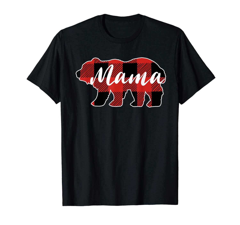 Buffalo Plaid Mama Bear Mothers Day Gifts Shirts