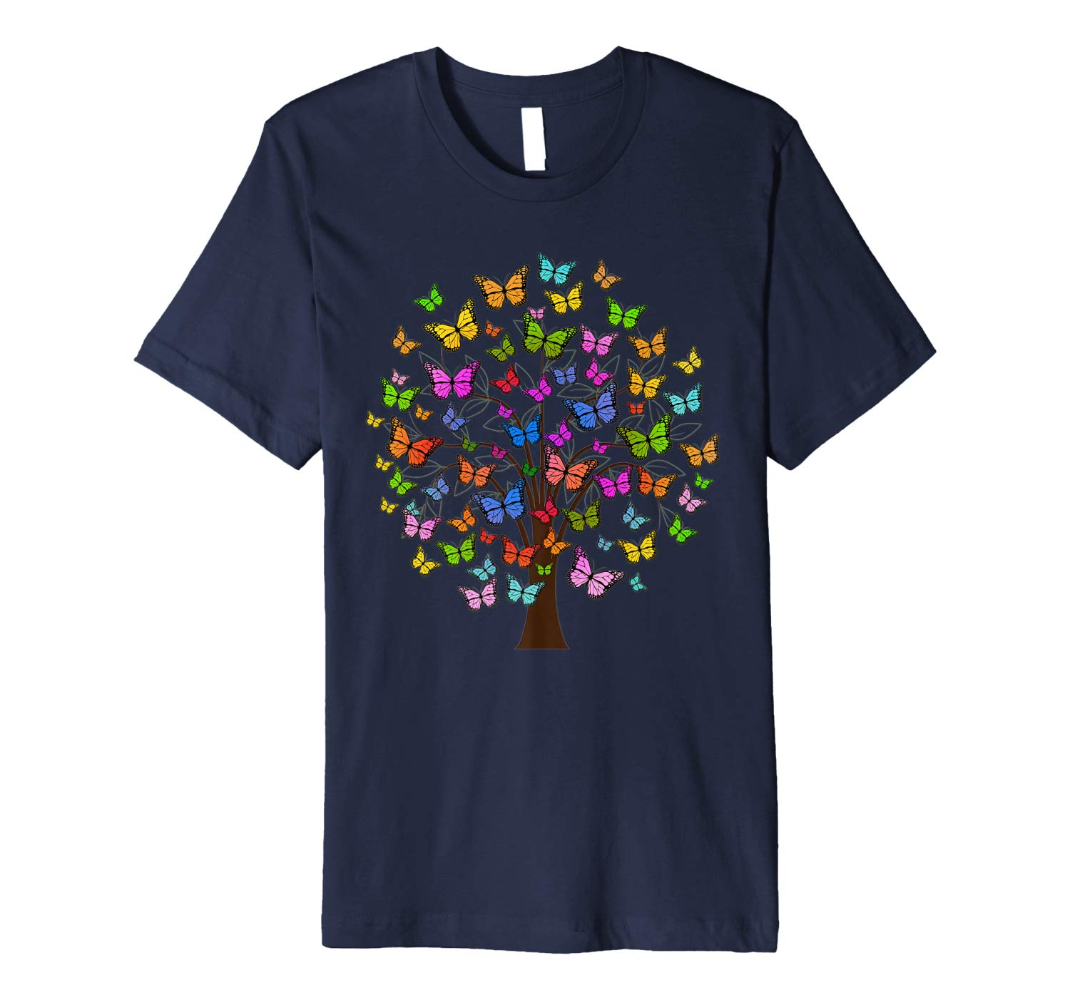 Butterfly Shirt Nature Tree Earth Day Mom Lover Gift