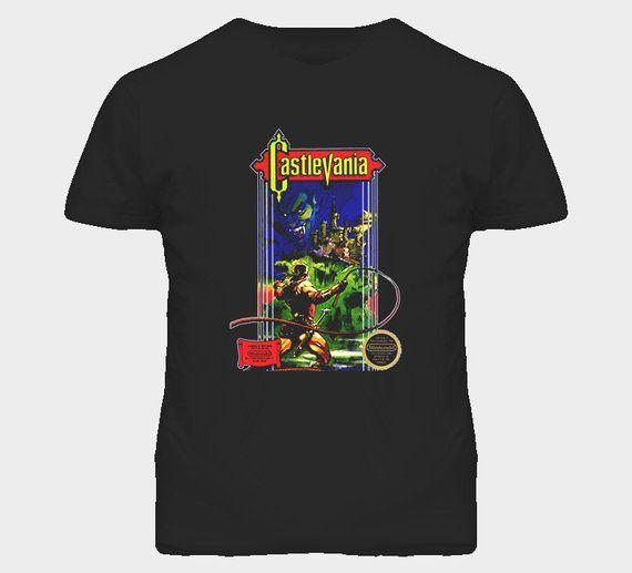 Castlevania Nes Retro Video Game Shirts