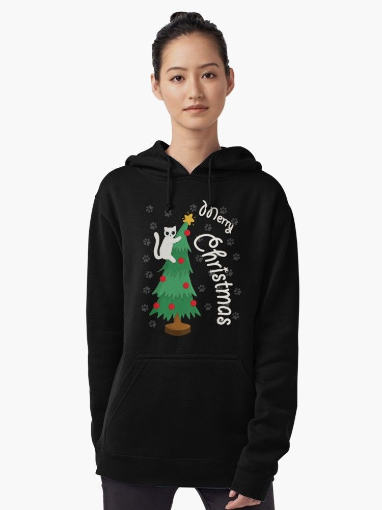 Cat On Christmas Tree By Valentinahramov Redbubble Shirts