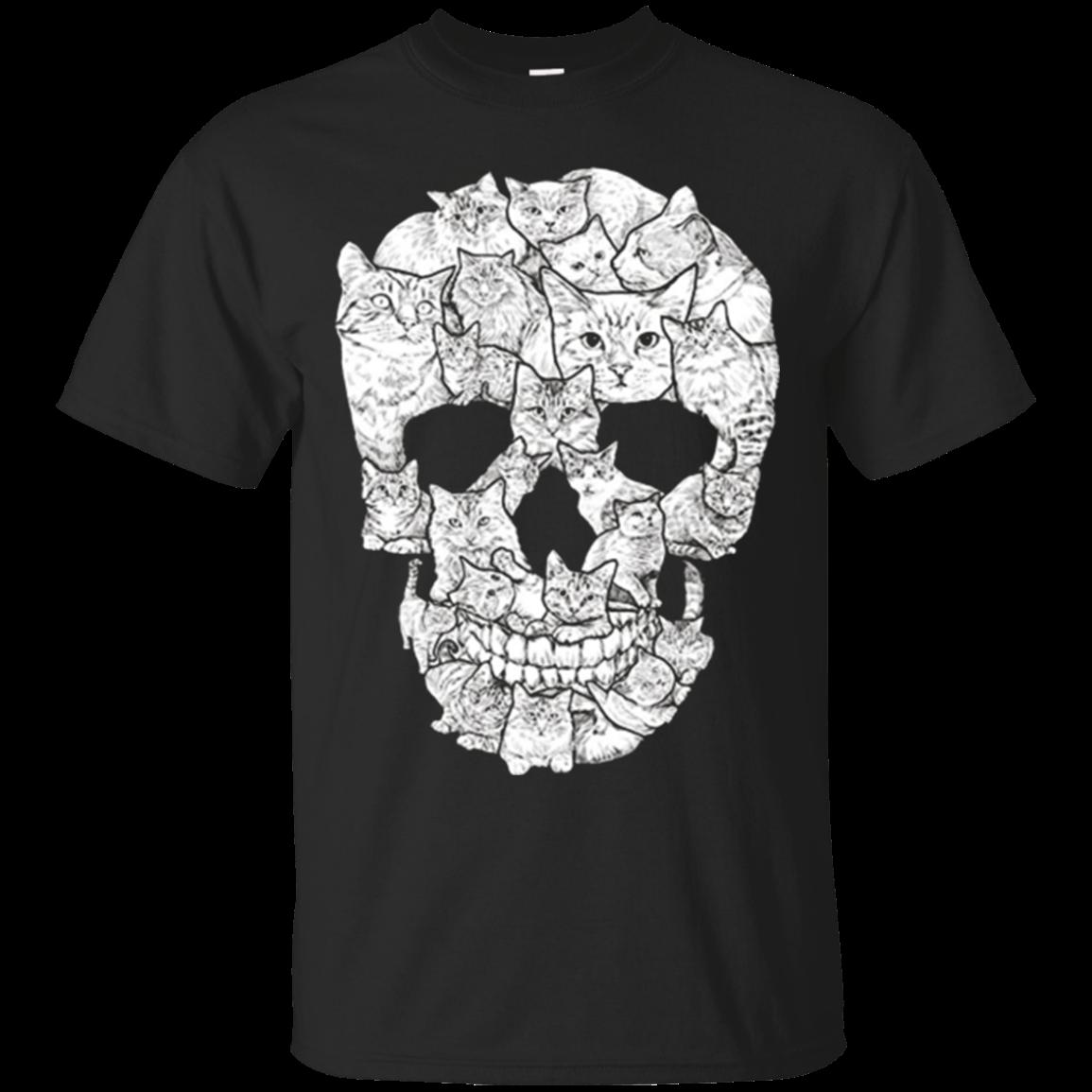 Cat Skull T Shirt