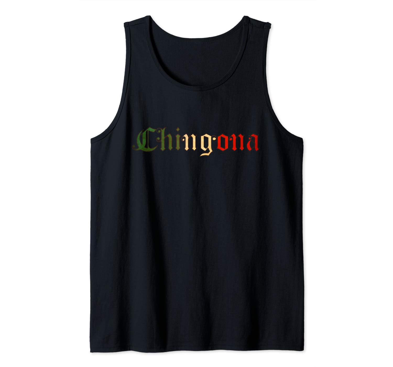 Chingona Badass Latina Spanish Mexican Flag Tank Top Shirts