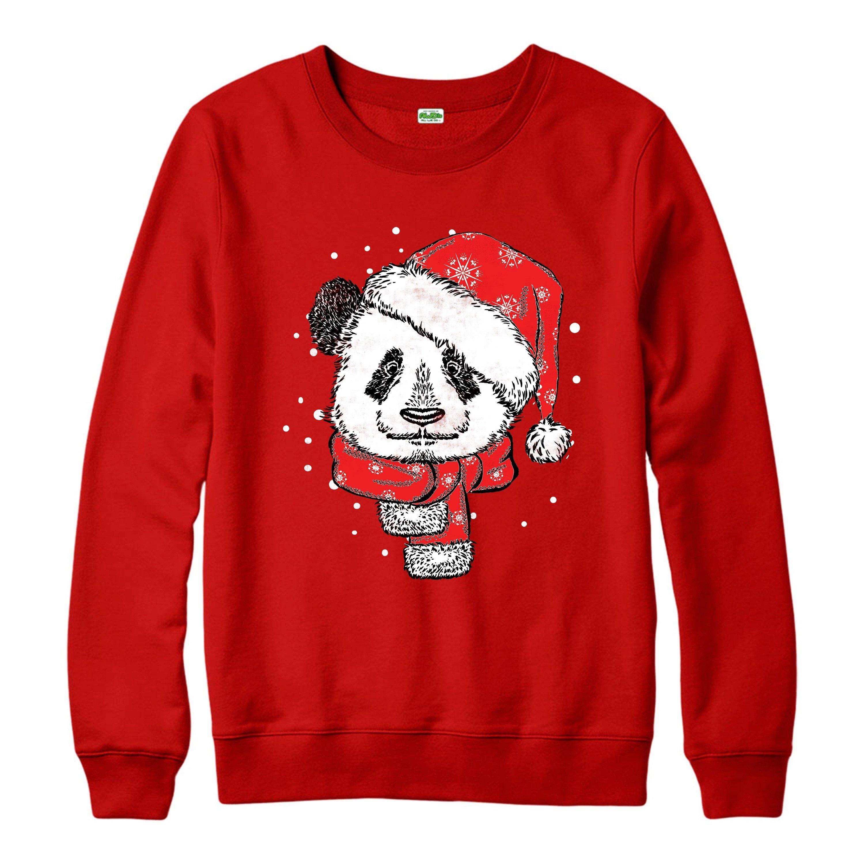 Christmas Jumper Santa Panda Xmas Festive Gift Adult Jumper Top Shirts