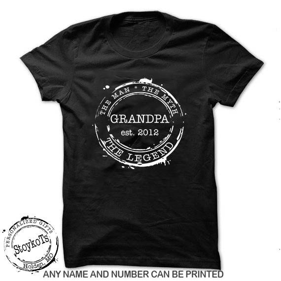 Christmas Shirts For Grandpa S Personalized Date Stamp The
