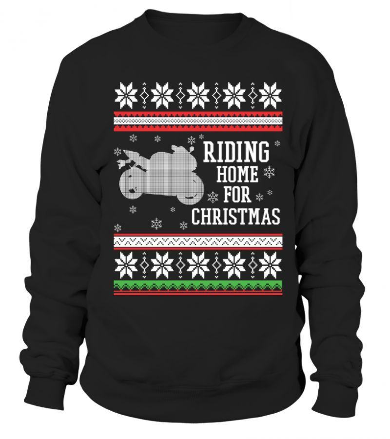 Christmas For Kids Riding Home For Christmas Motorbike Christmas Movie Quote T S Shirts