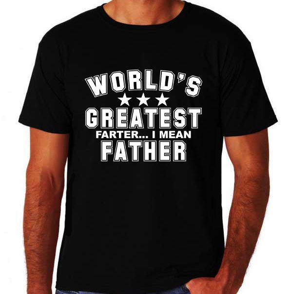 Click To Buy World S Greatest Farter Father Day Dad Pop Funny Slogan New Black Gift Shirts