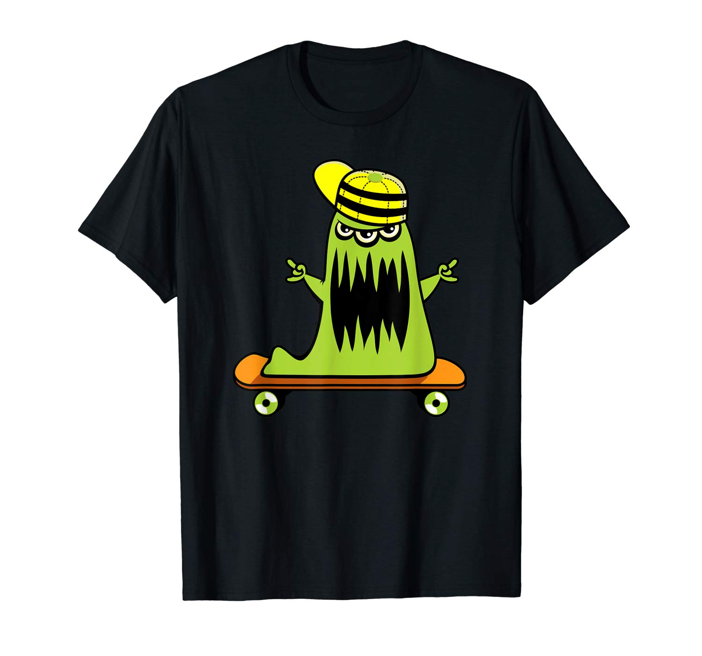 Cool Halloween Monster Skateboarding T Shirt
