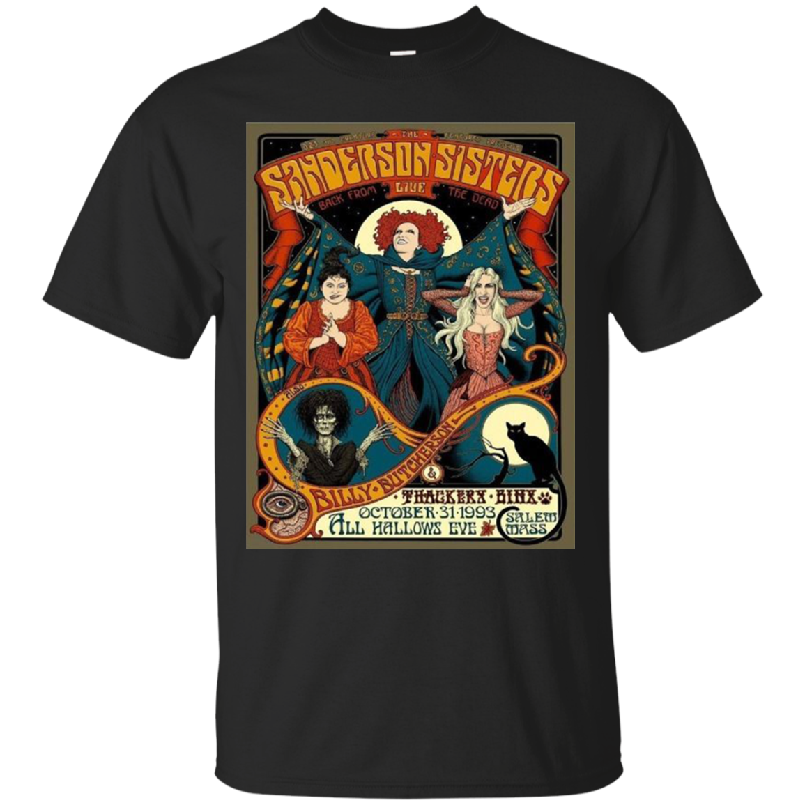Cover Your Body With Amazing Sanderson Sisters Vintage Tour Poster T Shirt Tula Store