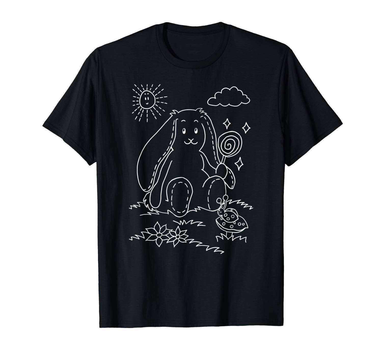 Cute Bunny On A Meadow Rabbit Gift Idea Shirts