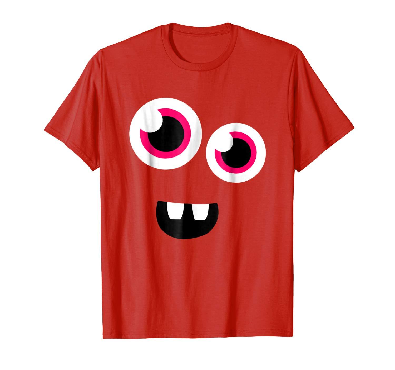 Cute Eye Monster Face Funny Halloween Man T Shirt