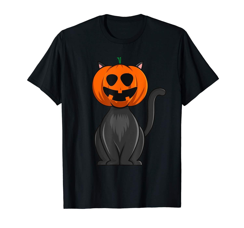 Cute Halloween Pumpkin Black Cat T Shirt Jack O Lantern T Shirt